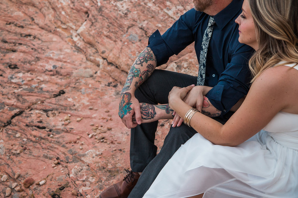 Intimate red rock vow renewal near Zion National Park