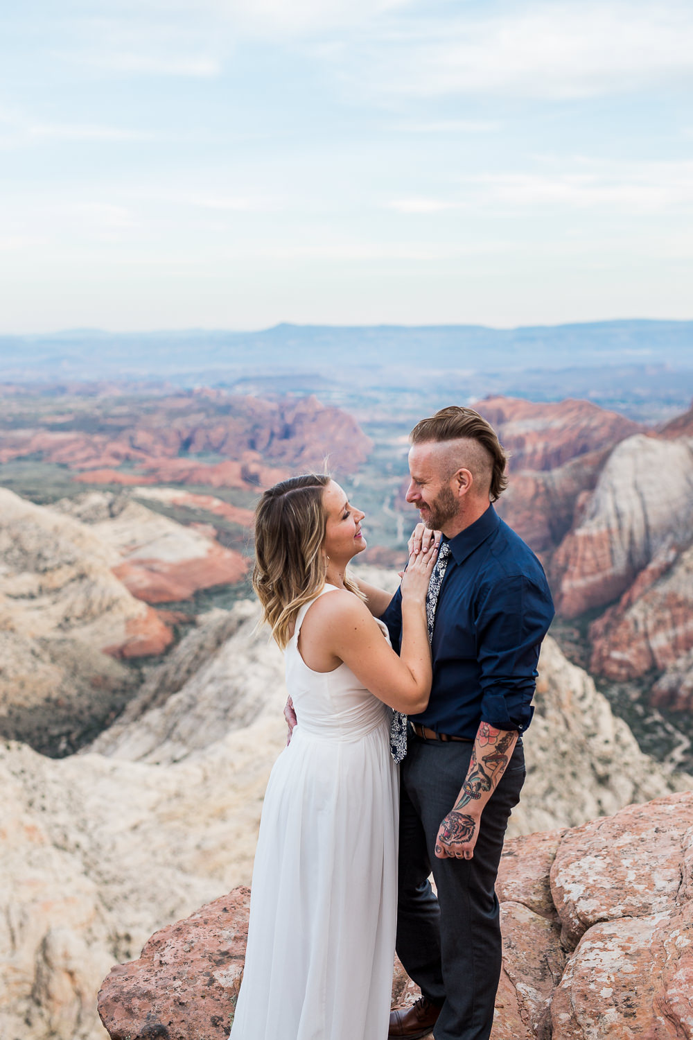 Emotional vow renewal near Zion National Park Kyle Loves Tori