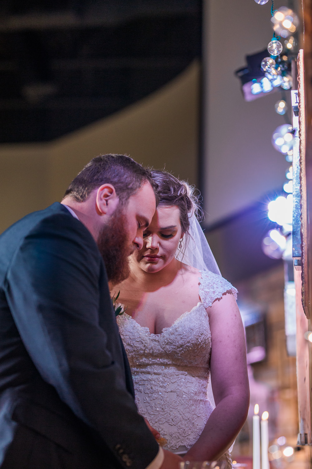 Wedding ceremony couple shares communion