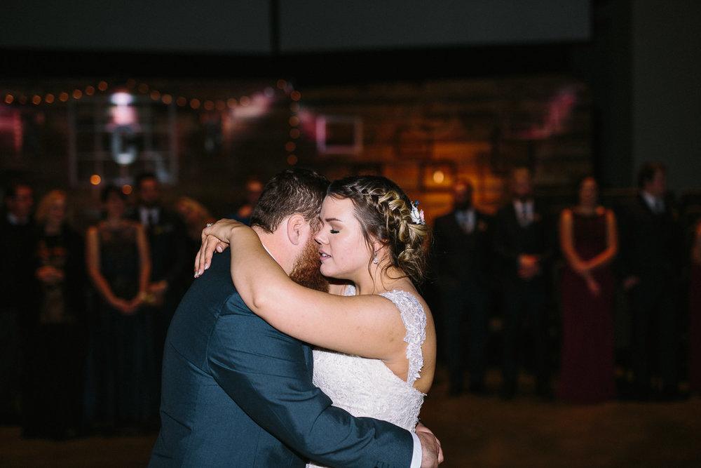 Centerpoint Church winter wedding bride and groom first dance