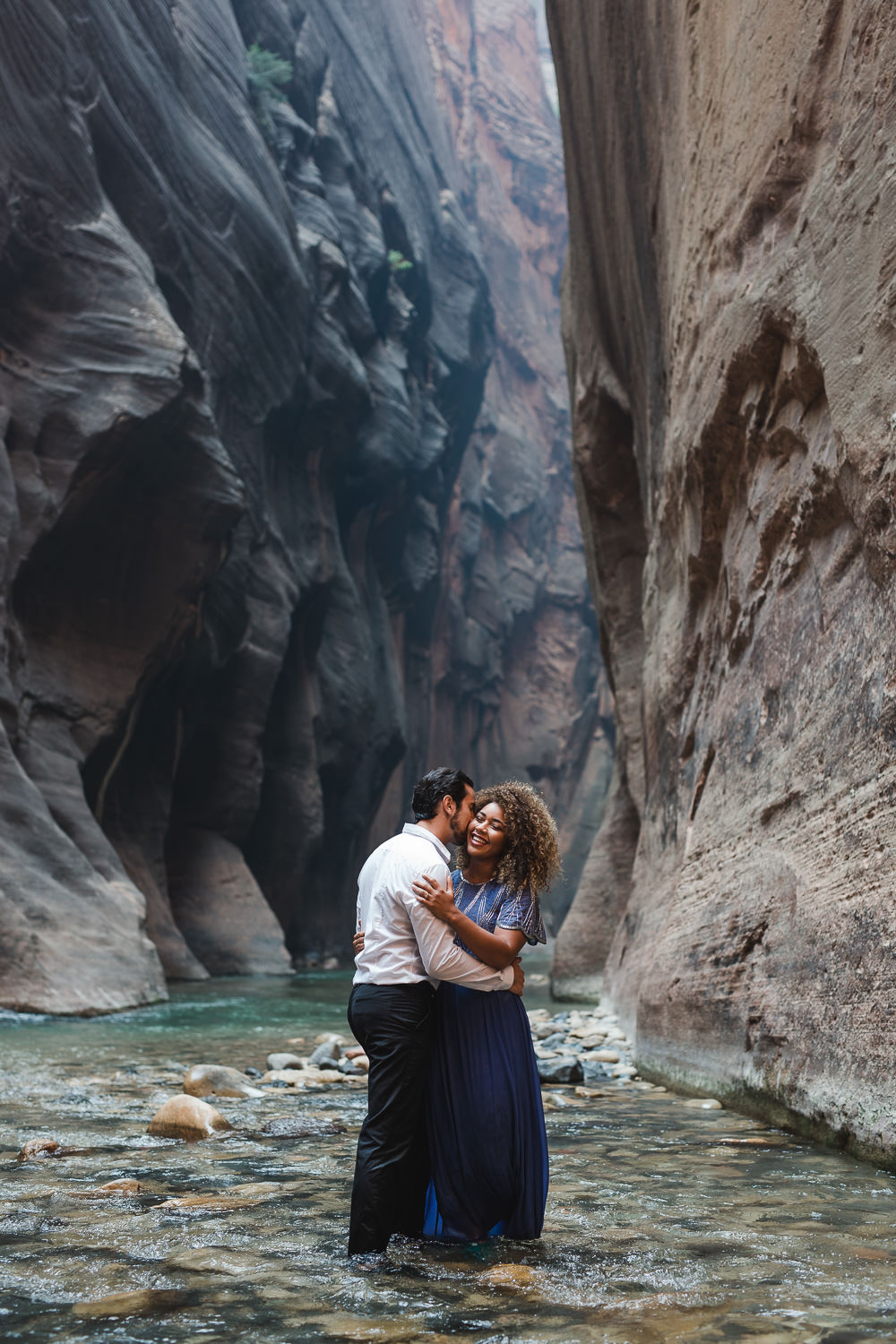 Adventure Wedding Photographers in Utah, Narrows Zion National Park