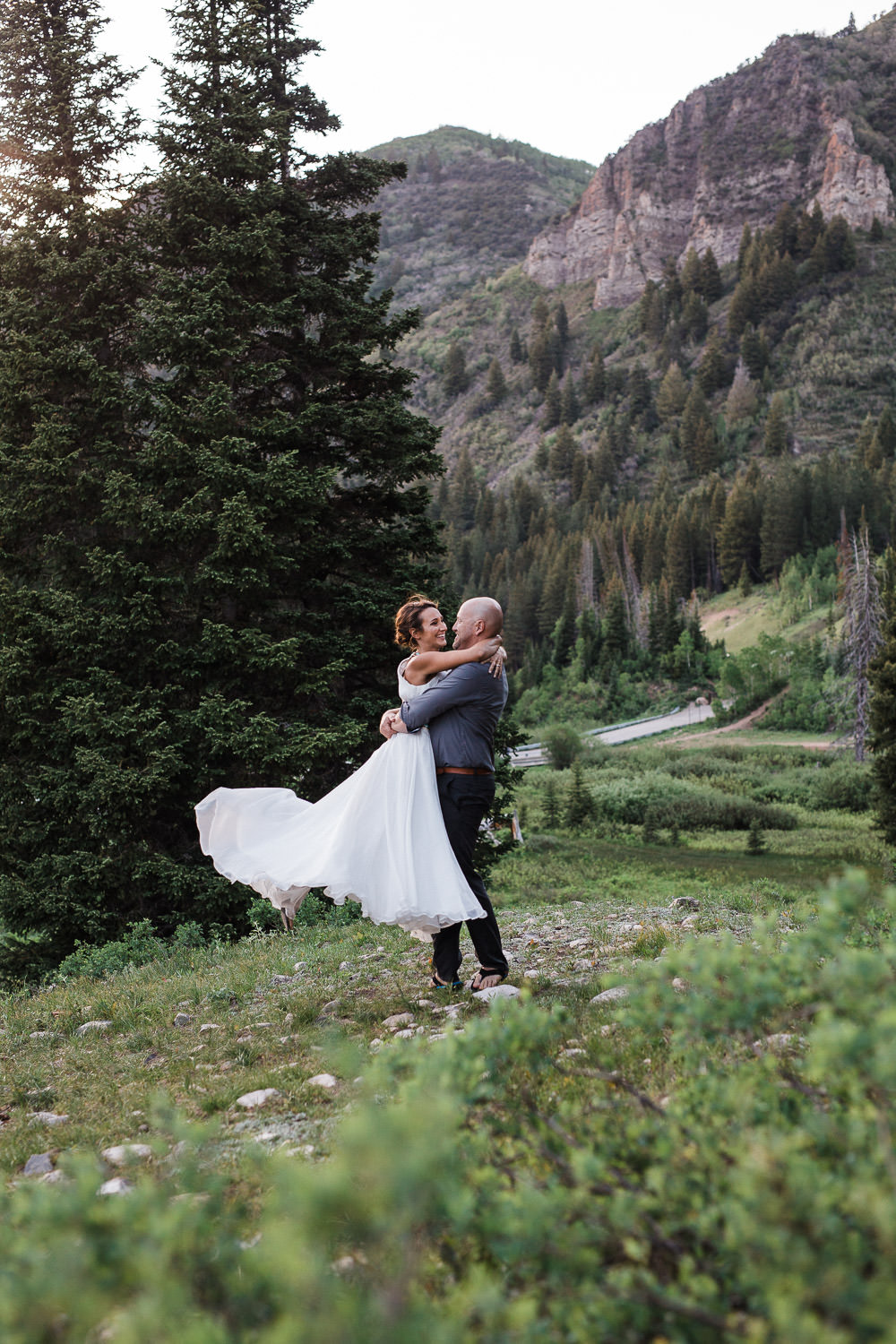 Big Cottonwood Canyon Vow Renewal by Utah Photographers Kyle Loves Tori