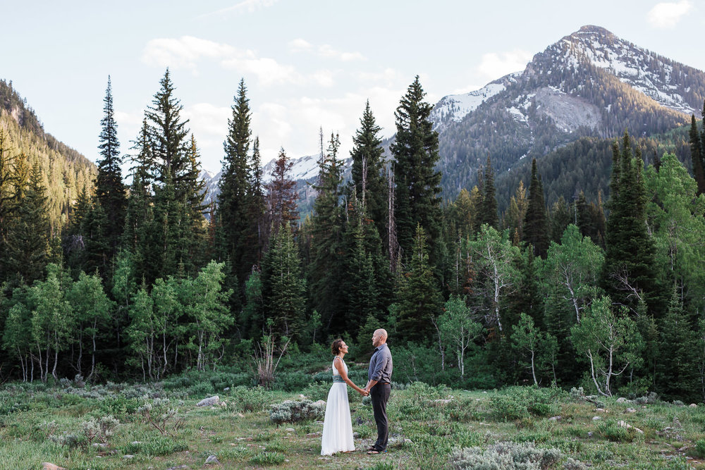 Mountain vow renewal Big Cottonwood Canyon Utah