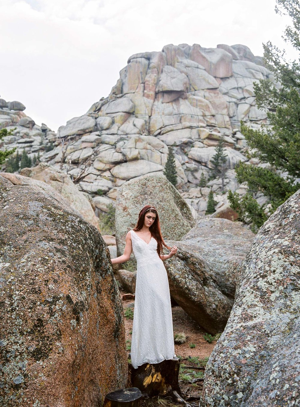 Bride on fine art film fujifilm 400h processed by Boutique Film Lab