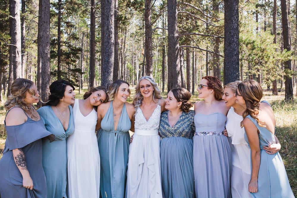 Casper Mountain Bridesmaids bridal party