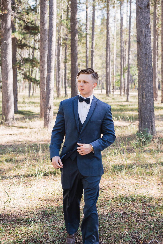 Classy groom portrait La Neige Tux