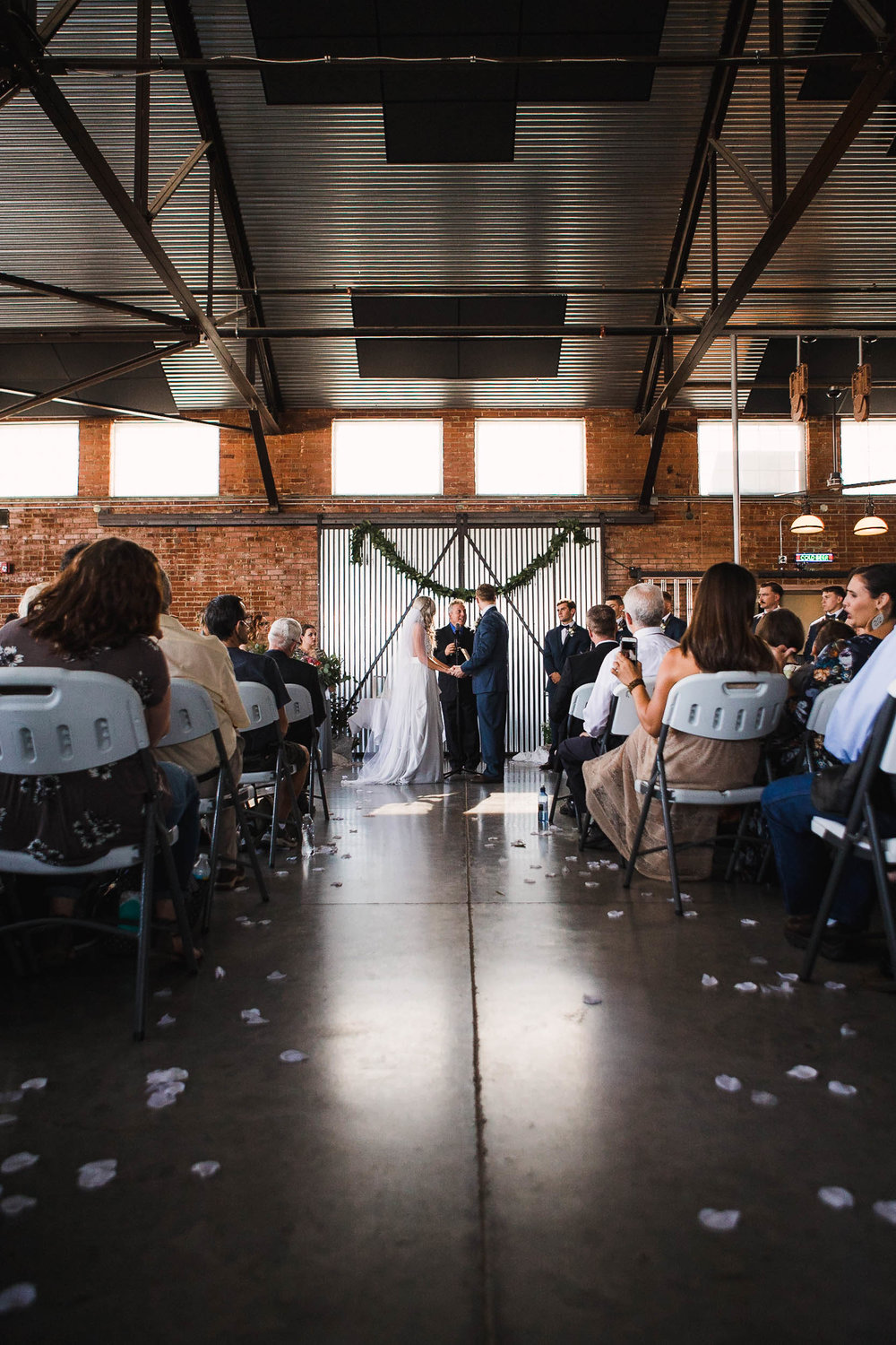 The Hangar Bar and Grill Casper Wyoming Wedding Ceremony