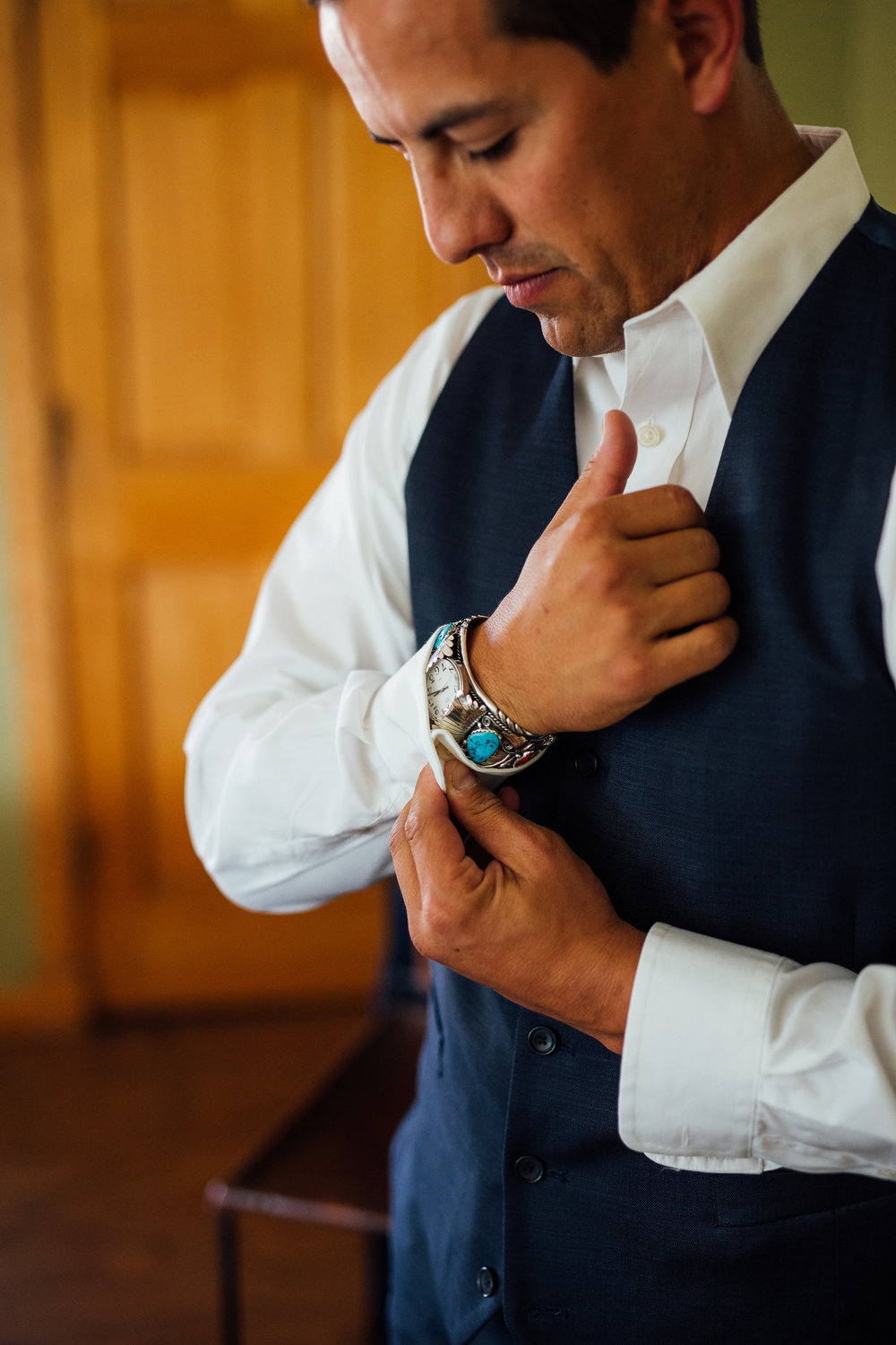 Groom Navajo Turquoise Watch