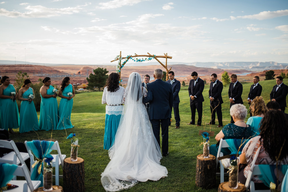 Page Arizona Wedding Ceremony