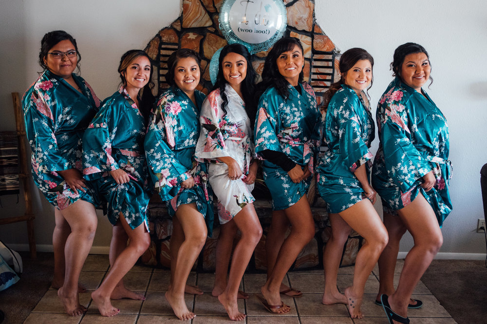 Bridesmaid Matching Robe Bride