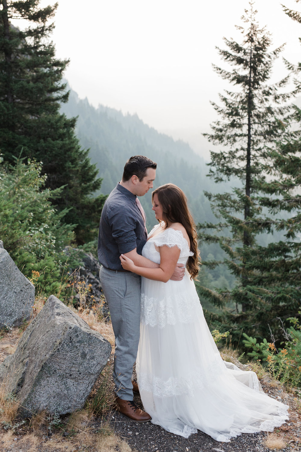 Mount Rainier Bride Groom Wedding