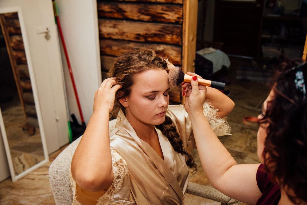 Bride Hair Intimate Wedding Colorado