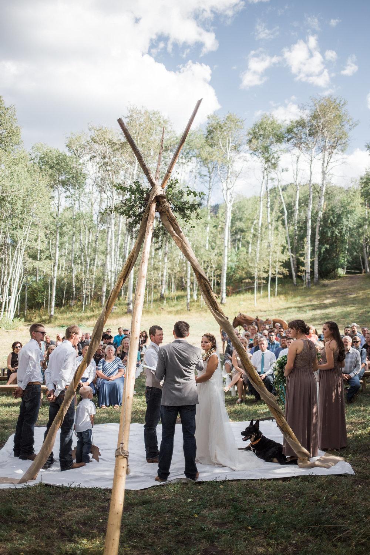 Colorado Mountain Wedding Aspen Forest