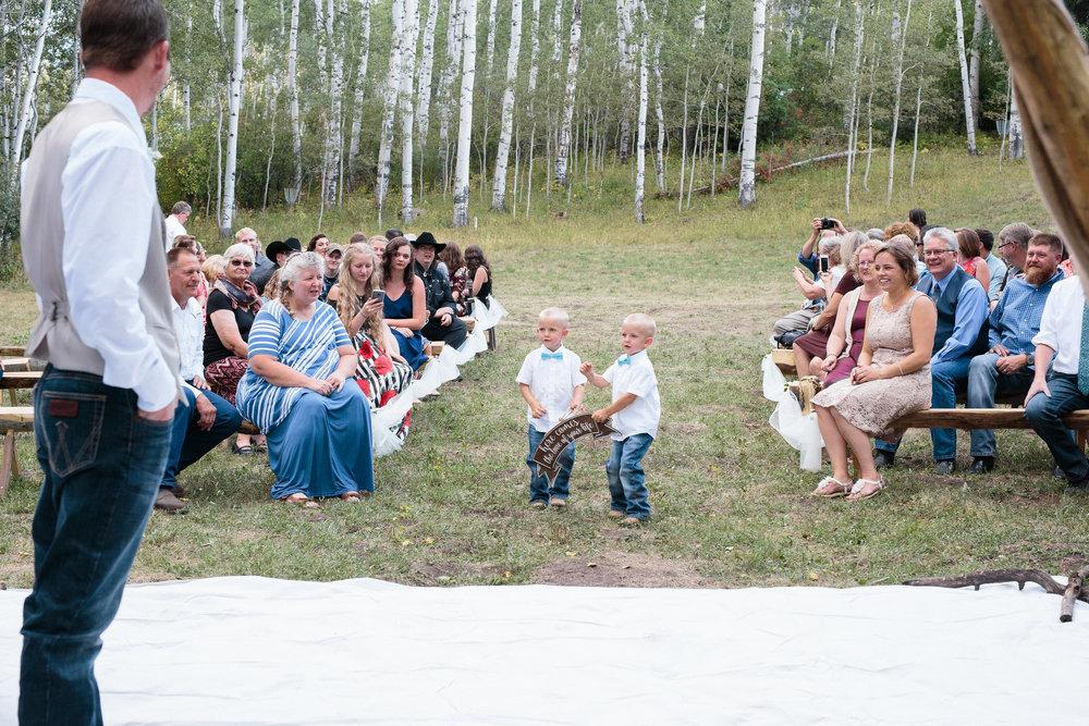 Ring Bearers Mountain Wedding