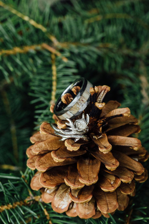 Wedding Ring Elk Horn Pine Colorado