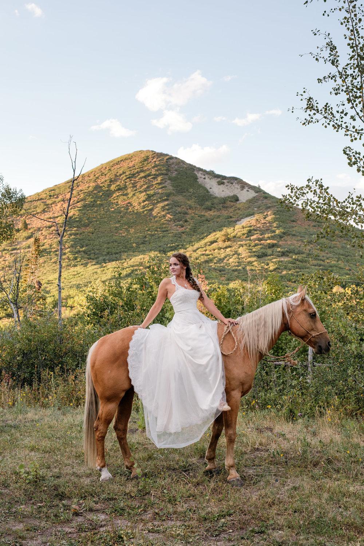 Old Man Mountain Colorado Horse Bride