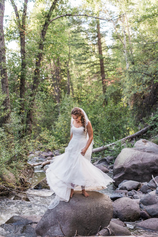 Boho Indian Princess Wedding Dress River Forest