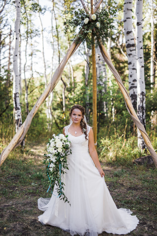 Bride Mountain Aspen Forest Boho