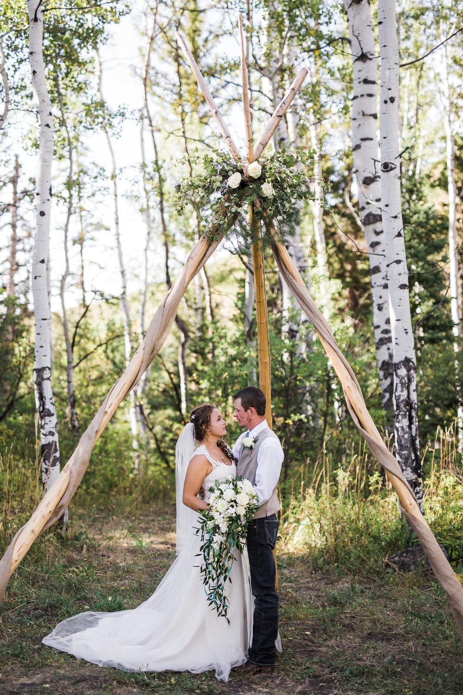 Teepee Boho wedding Colorado Mountain