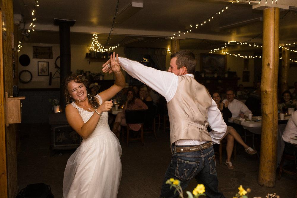 Cake Smash Wedding Reception Cabin