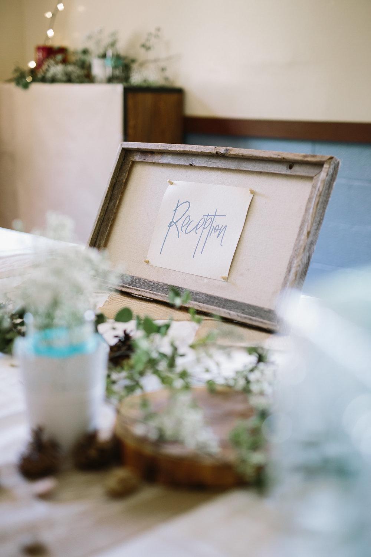 Reception Sign Wedding Rustic