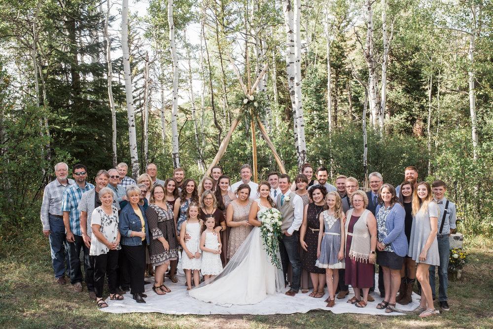 Family Photo Mountian Wedding