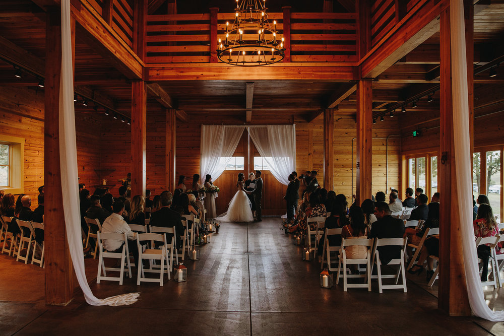 Wedding ceremony at Flying Horse Ranch in Colorado Springs