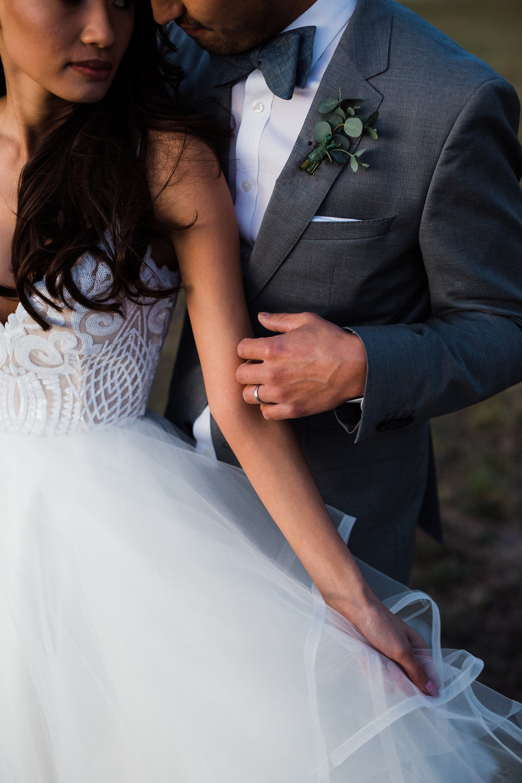 Intimate wedding photography in colorado