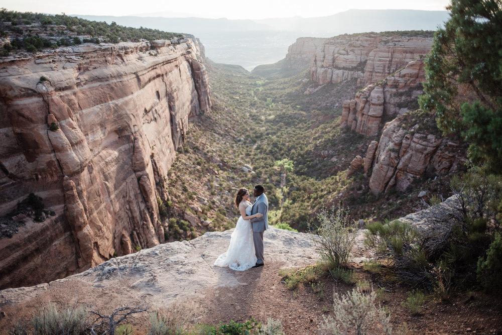 Colorado National Monument Adventure Wedding Photographers