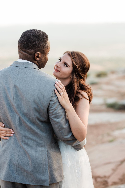 Interracial couple adventure wedding in Colorado