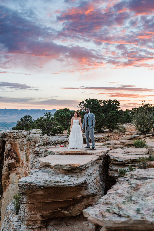 Adventure wedding photographers Colorado National Monument