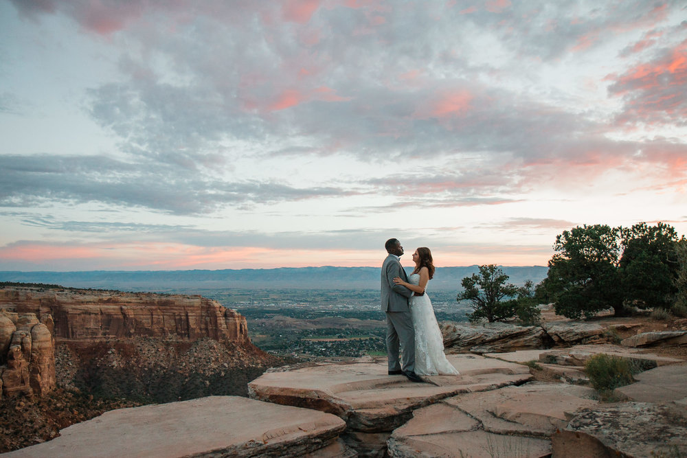 Colorado National Monument Adventure Wedding Photography
