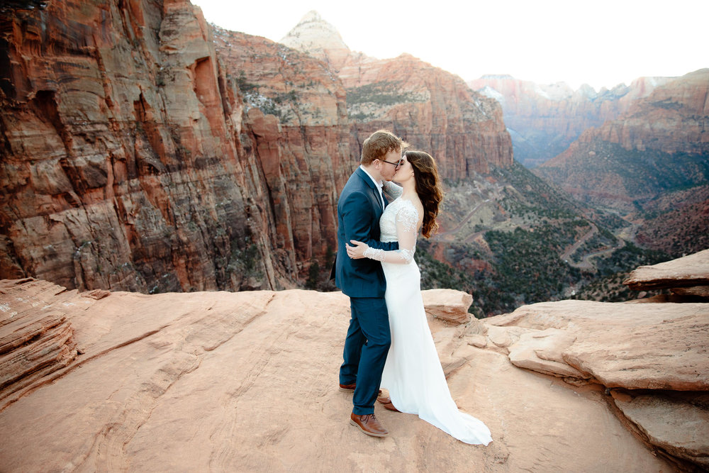 Zion National Park elopement wedding photographers