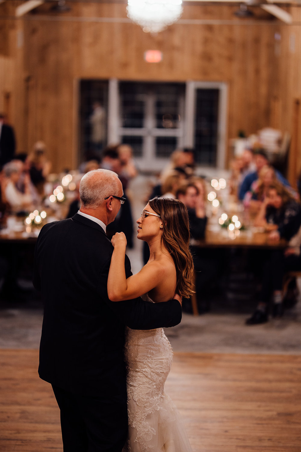 Father-daughter dance wedding photographers