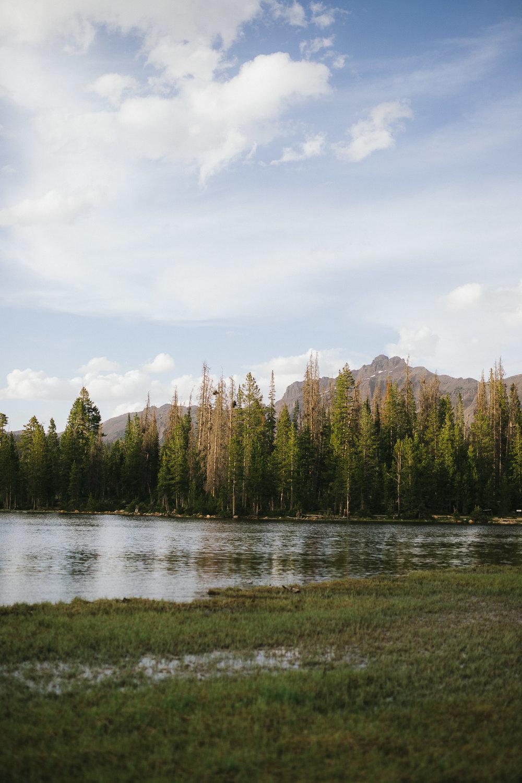Mirror Lake in the Uintah Mountains in Utah