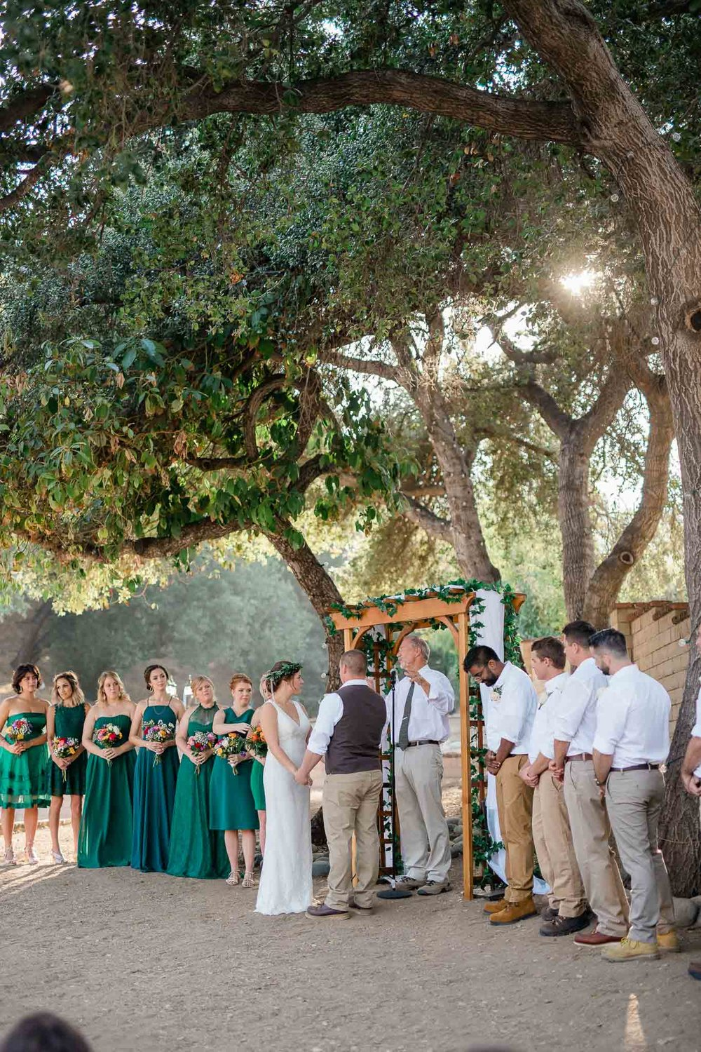 Backyard wedding ceremony in Pasadena, California