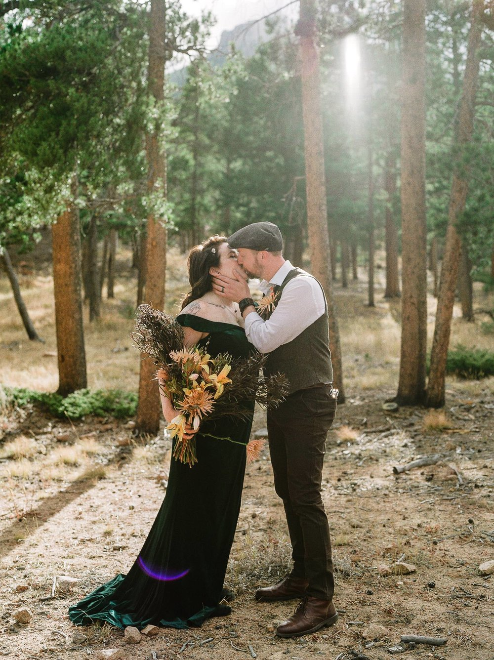 Alternative Colorado Rocky Mountain National Park Elopement on Film