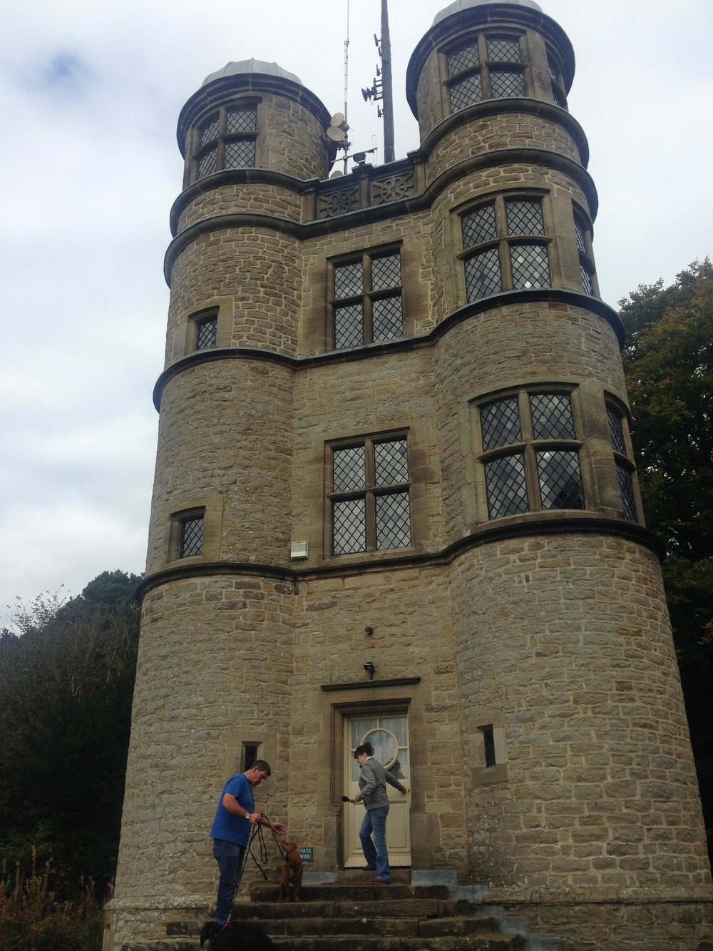 Timeout: these people live in this Elizabethan hunting tower. Real life. Ok, carry on.