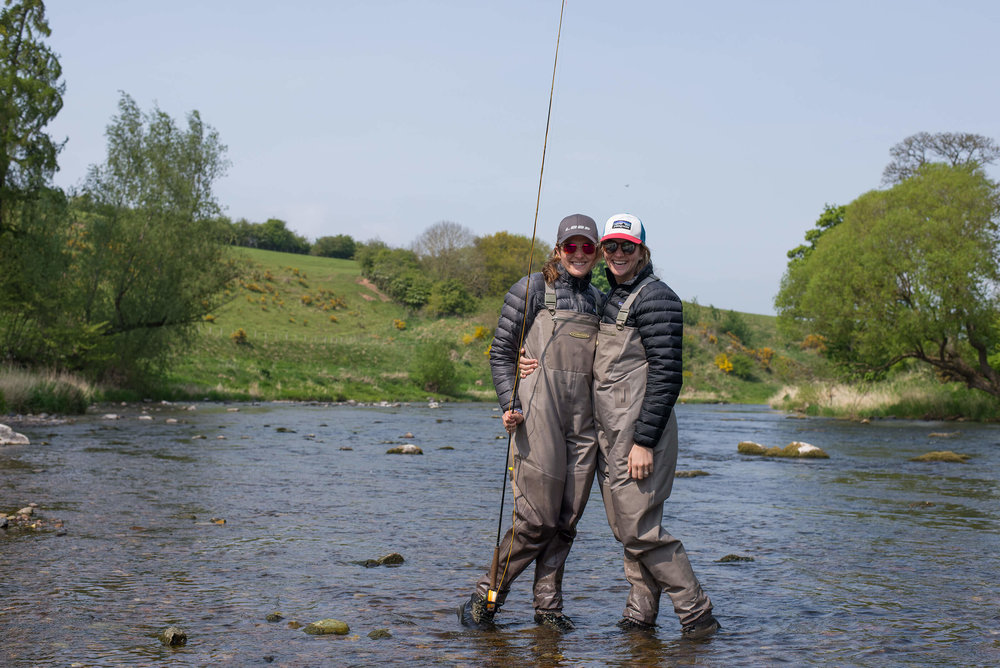 Fly fishing in Scotland, best Christmas present I ever gave myself, I mean Leigh.