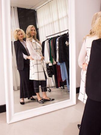 Sam advising one of her clients - Winner of the Mrs Australia title
