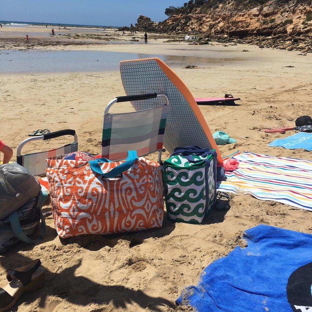 Project ten beach bag-bags on the beach-aussie beach-sub-urban.JPG