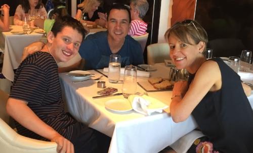 Oliver, Jonathon (Kerry's husband) and Kerry.