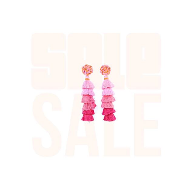 Holiday Jewelry Sale ✨ All Tassel Earrings on sale for only $45.00 right now! All orders include free gift wrapping, DM to order or shop online now!