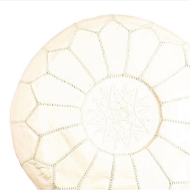 Handmade in Morocco ⋆ Decorate your home with our eclectic accessories from around the world ⊹ Leather Pouf Ottomans made in Tangier, Morocco are available in our online shop ⋆⋆⋆ order online or DM us today! ⋆⋆⋆ www.tuluandblue.com