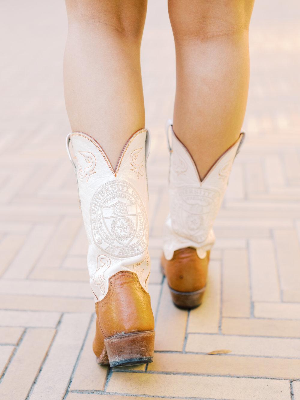Arabella's UT cowboy boots