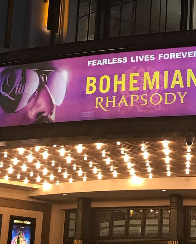 🤘🏾👑Farrokh Bulsara aka Freddy Mercury who else wanted to be him as a kid? @bohemianrhapsodymovie is brilliant and @ramimalek is extraordinary #freddiemercury #farrokhbulsara #queen #movies #legend #datenight #goseeit