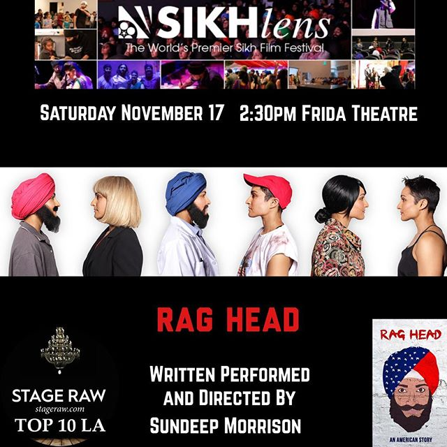 The @sikhlens film festival kicks off this week and I'm excited to be part of a festival giving space to fellow Sikh Artists. I will be performing RAG HEAD Saturday Nov 17th at 2:30pm hope to see you!Thank you for your love and support 🙏🏾❤️ #sikh #theatre #onewomanshow #unity #diversity #action #resist #endxenophobia