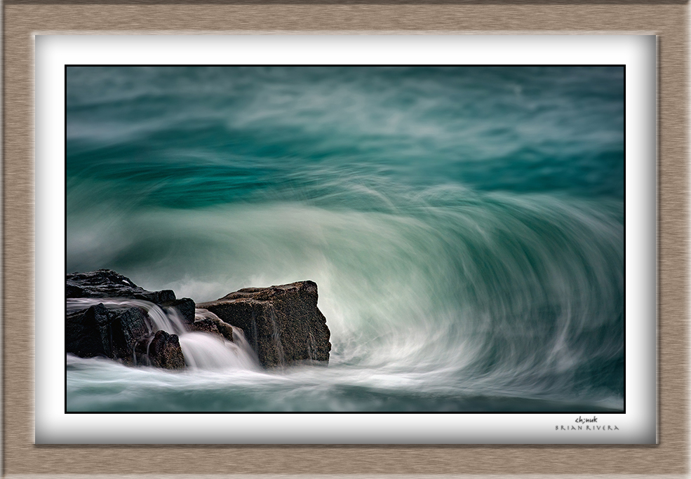 Maine Rocks Framed signed ©BrianRiveraUncapher.jpg
