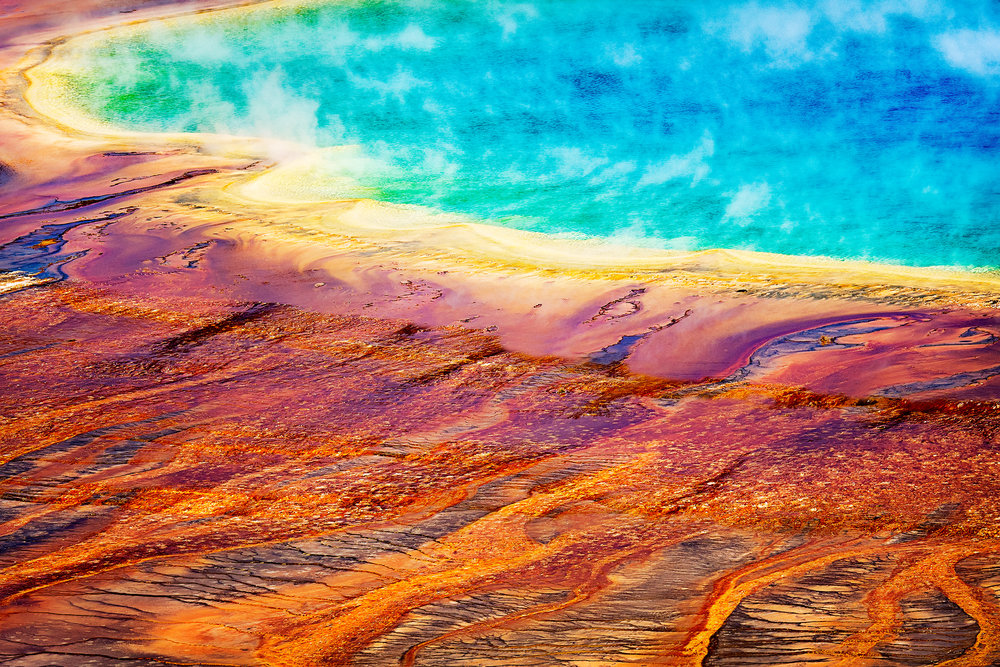 Abstract: Grand Prismatic Spring, Wyoming