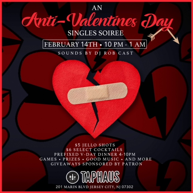 Anti Valentines Day Singles Soiree Taphaus Jersey City
